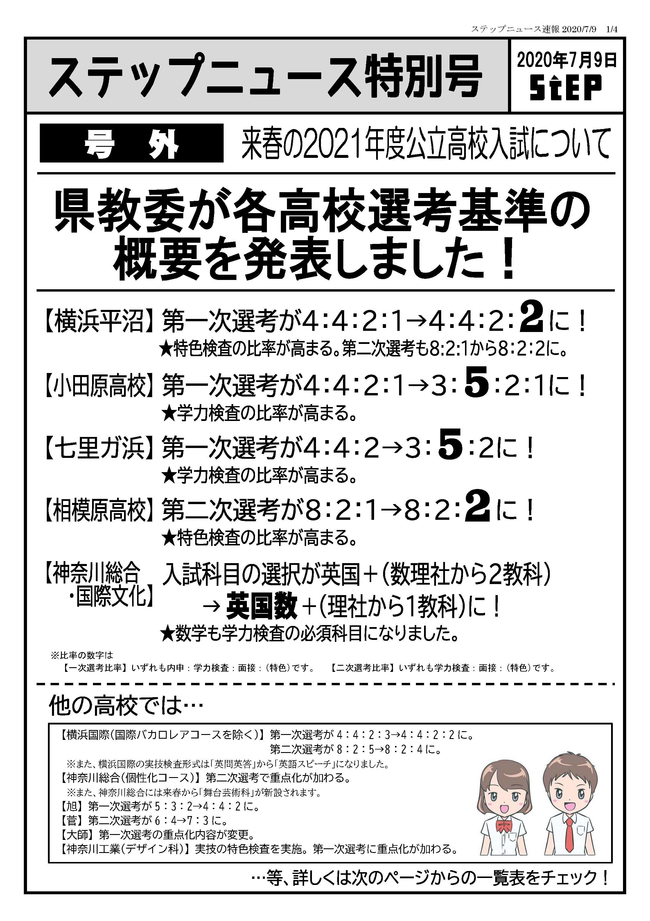 倍率 高校 入試 速報 2021 神奈川 県 公立
